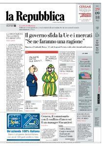 la Repubblica - 29 Settembre 2018