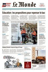 Le Monde du Jeudi 25 Janvier 2018