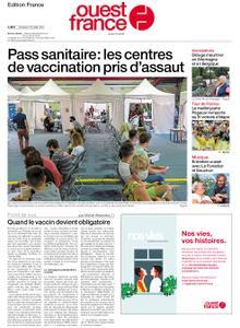 Ouest-France Édition France – 16 juillet 2021