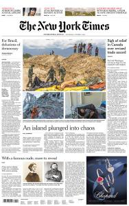 International New York Times - 3 October 2018
