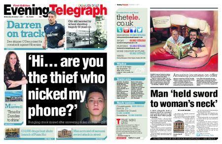 Evening Telegraph First Edition – November 01, 2017
