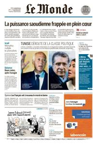 Le Monde du Mardi 17 Septembre 2019