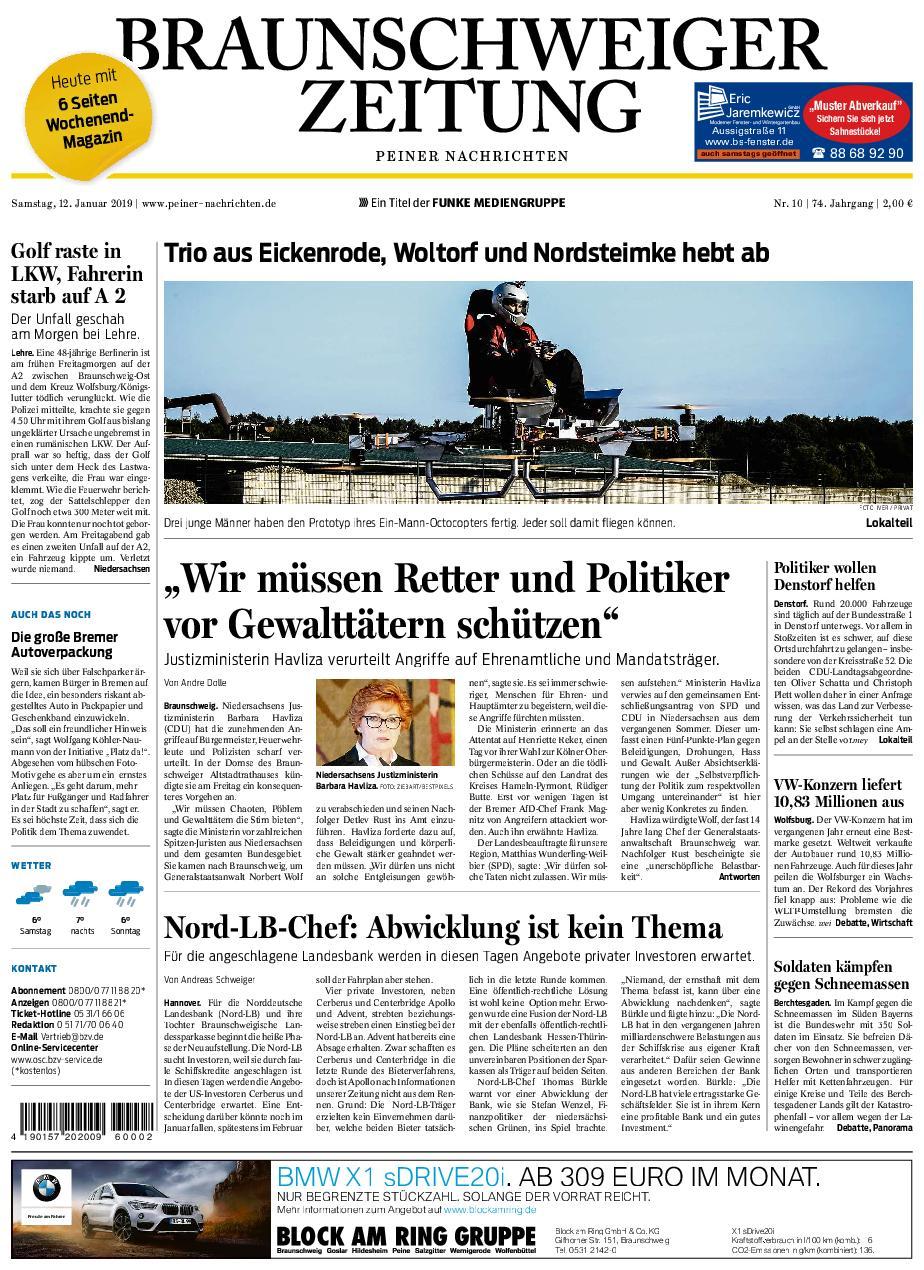 Peiner Nachrichten - 12. Januar 2019