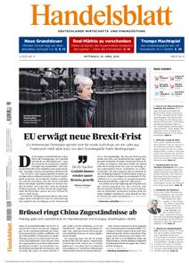 Handelsblatt - 10. April 2019