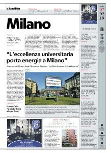 la Repubblica Milano - 7 Febbraio 2019