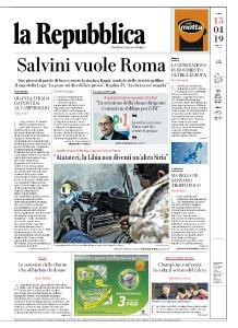 la Repubblica - 15 Aprile 2019