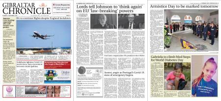 Gibraltar Chronicle – 10 November 2020