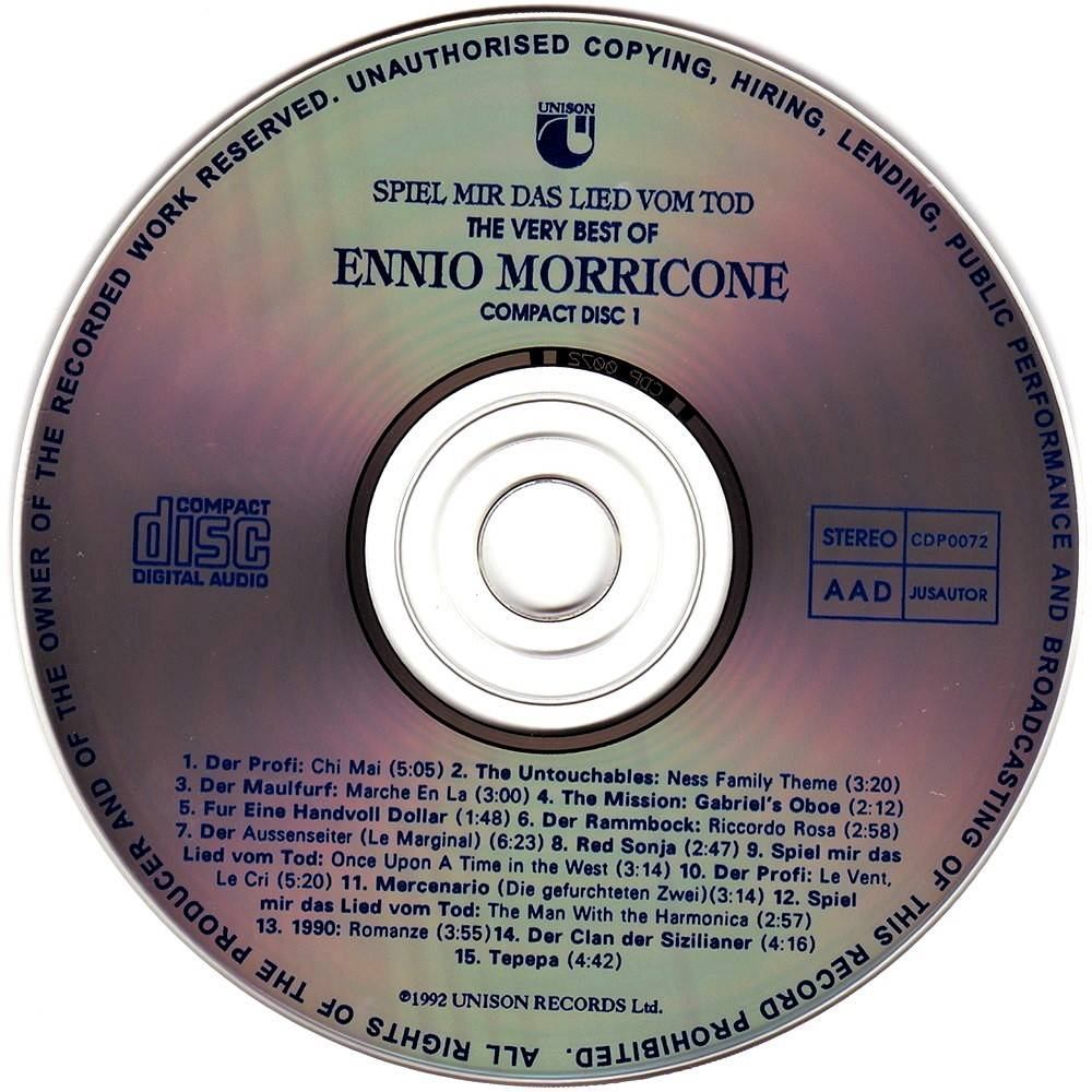 Ennio Morricone Spiel Mir Das Lied Vom Tod Soundtrack