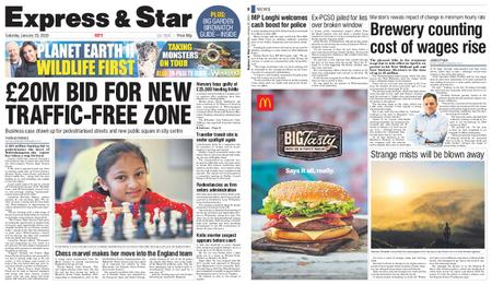 Express and Star City Edition – January 25, 2020