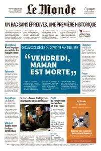 Le Monde du Dimanche 5 et Lundi 6 Avril 2020