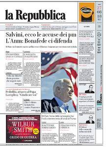 la Repubblica - 27 Agosto 2018