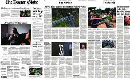 The Boston Globe – October 30, 2017