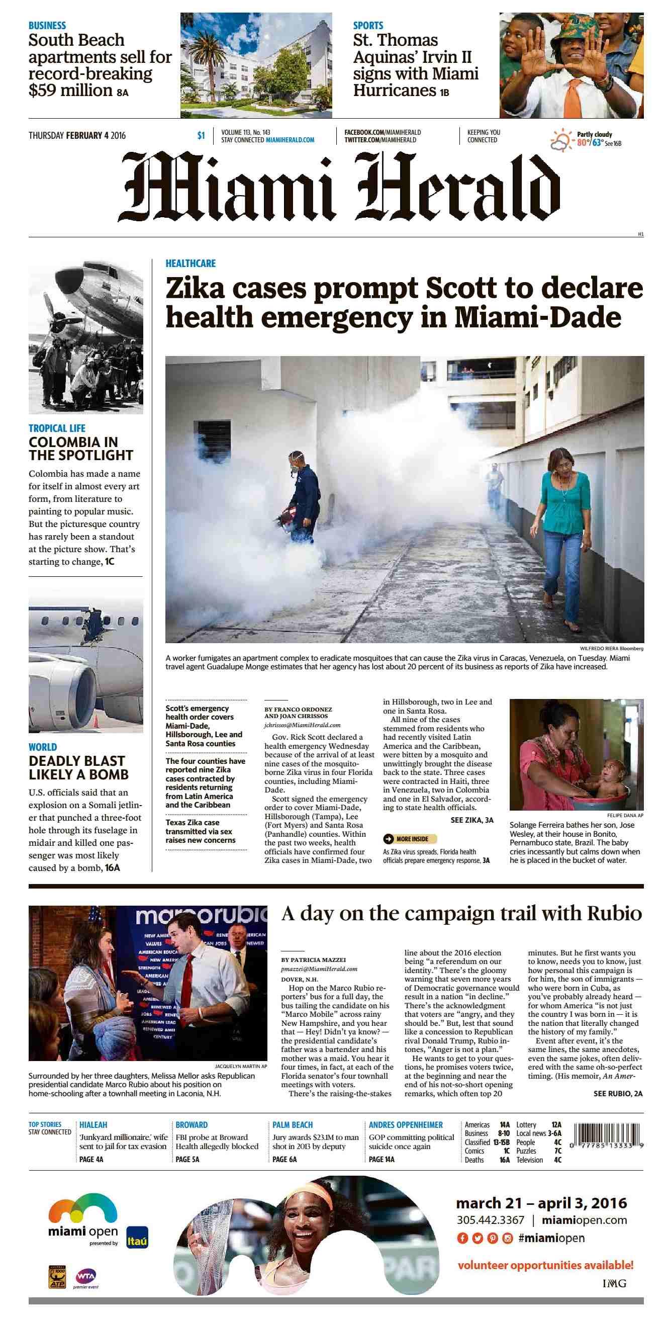 Miami Herald - February 04, 2016 / AvaxHome