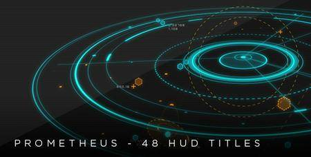 Prometheus - 48 HUD 2D & 3D titles - Project for After Effects (VideoHive)