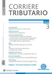 Corriere Tributario - Marzo 2020
