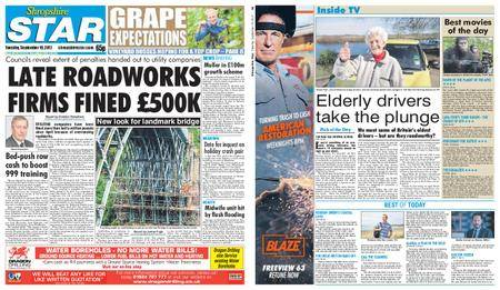 Shropshire Star Shrewsbury Edition – September 19, 2017