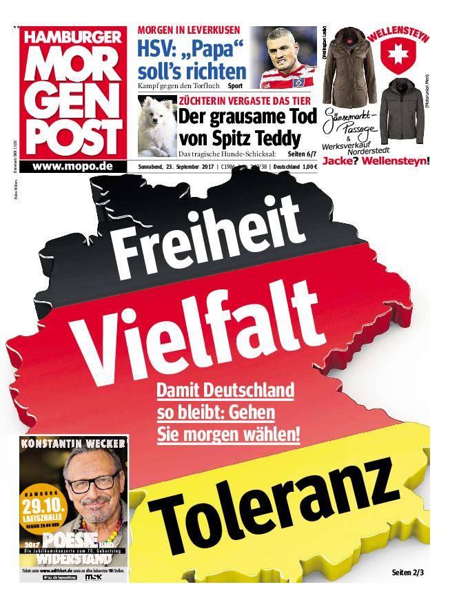 Hamburger Morgenpost - 23. September 2017