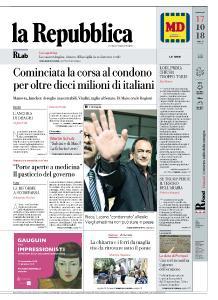 la Repubblica - 17 Ottobre 2018