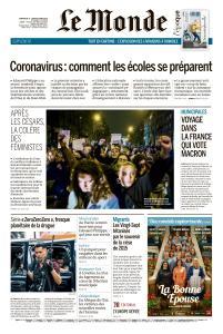 Le Monde du Dimanche 8 et Lundi 9 Mars 2020