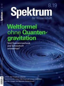 Spektrum der Wissenschaft - August 2019