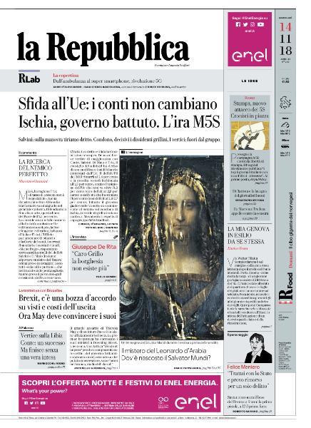 la Repubblica - 14 Novembre 2018