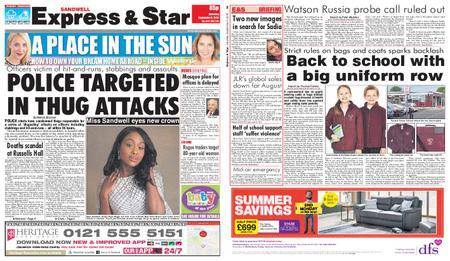 Express and Star Sandwell Edition – September 08, 2018
