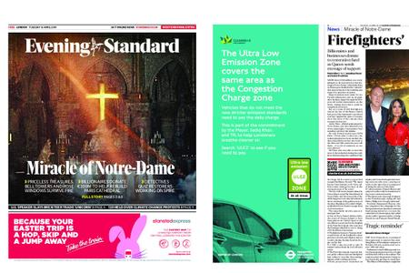 London Evening Standard – April 16, 2019
