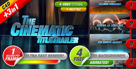 After Effects & Cinema 4D Projects - Cinematic Titles 3 in 1