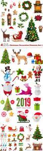 Vectors - Christmas Decoration Elements Set 7