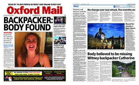 Oxford Mail – March 12, 2019