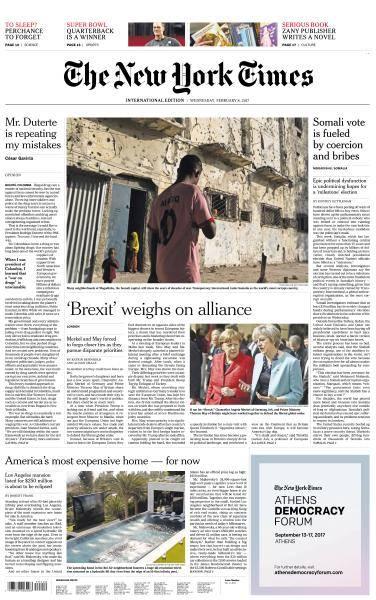 International New York Times - 8 February 2017