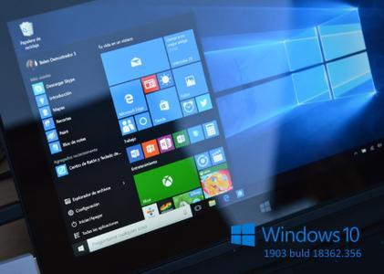 Windows 10 version 1903 Build 18362.356