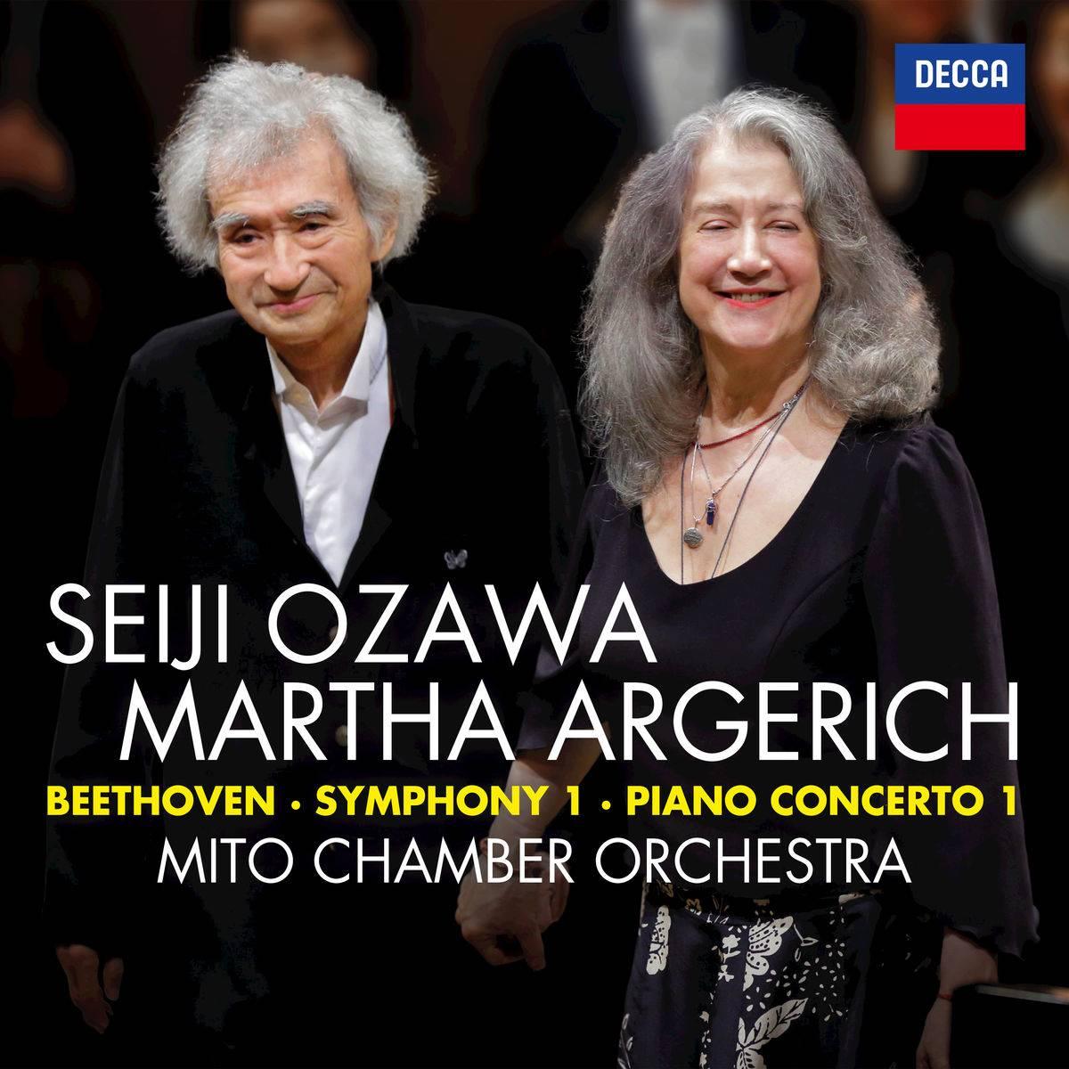 Martha Argerich, Seiji Ozawa & Mito Chamber Orchestra - Beethoven: Symphony No. 1 & Piano Concerto No. 1 (Live) (2018) [24/96]