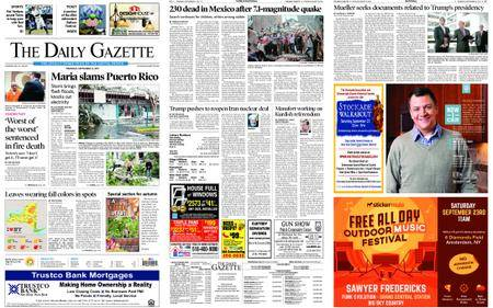 The Daily Gazette – September 21, 2017