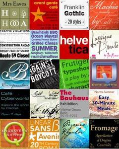 40 Bestselling Fonts Nov 2006