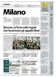 la Repubblica Milano - 11 Aprile 2018