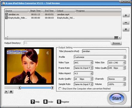 A-one iPod Video Convertor 4.21