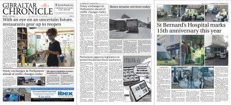 Gibraltar Chronicle – 01 June 2020
