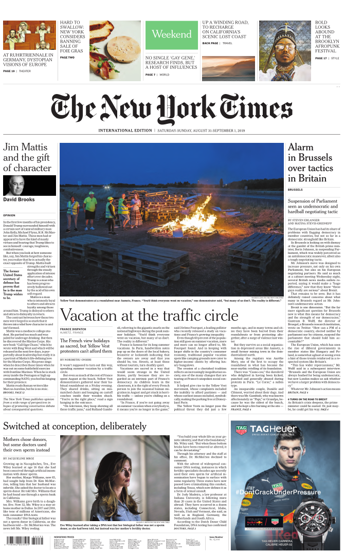 International New York Times - 31 August 2019