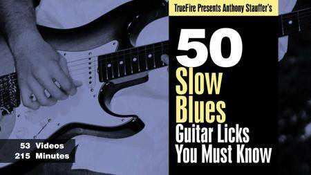 Truefire - 50 Slow Blues Licks You MUST Know with Anthony Stauffer's