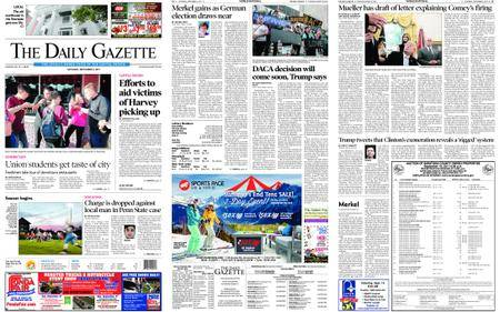 The Daily Gazette – September 02, 2017