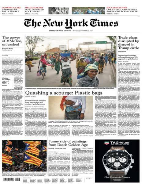 International New York Times - October 23, 2017