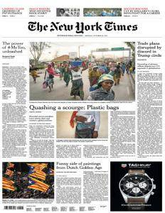 International New York Times - October 23, 2017