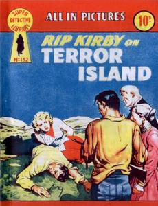 Super-Detective Library 132-Rip Kirby on Terror Island Bogof39