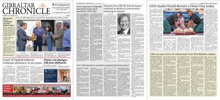 Gibraltar Chronicle – 16 October 2021