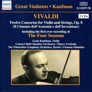 Louis Kaufman - Vivaldi: 12 Violin Concertos Op. 8, The Four Seasons (2005)