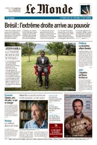 Le Monde du Dimanche 30 et Lundi 31 Décembre 2018