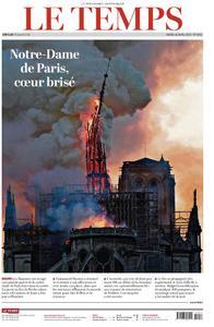 Le Temps - 16 avril 2019