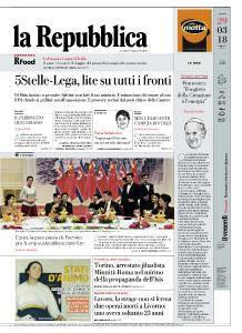 la Repubblica - 29 Marzo 2018