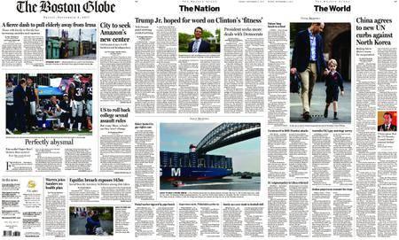 The Boston Globe – September 08, 2017
